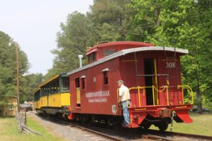 Caboose of New Hope Valley Railway, a client of Communicopia Public Relations