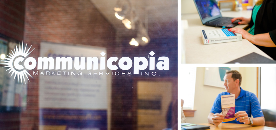 Communicopia public relations marketing agency is on South White Street in Wake Forest, North Carolina